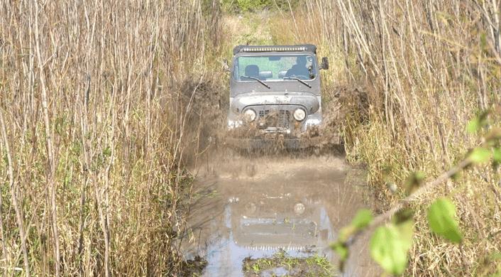 Roxor through mud